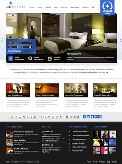 Hotel WordPress Theme with Reservation - GuestHouse