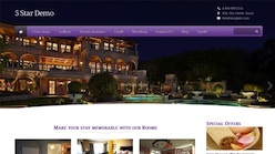 Responsive Hotel Wordpress Theme - 5 Star