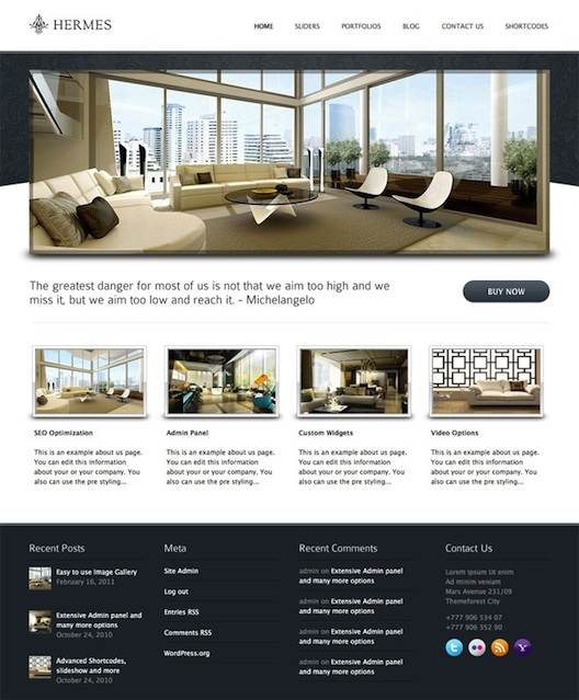Hotel WordPress Theme -Hermes