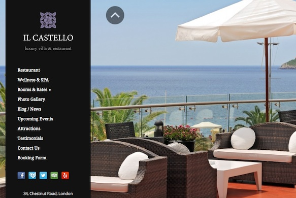Responsive Hotel Theme with Booking and Events Module - Castello